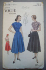 1950's? Vogue Easy to make one pc dress pattern 3816 size Junior 13