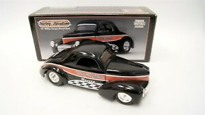 HARLEY-DAVIDSON Ltd Ed Diecast Replica 1941 Willys Coupe Street Rod Coin Bank