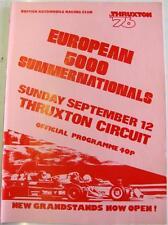THRUXTON BARC Europeo 5000 12th SEP 1976 MOTOR RACING PROGRAMMA UFFICIALE