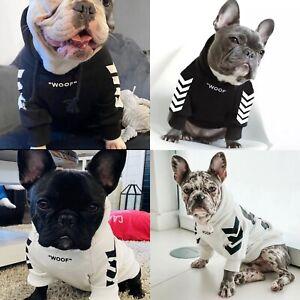 DOG PUPPY PET WOOF CROSSBONES BLACK WHITE SWEATER SWEATSHIRT HOODIE JUMPER
