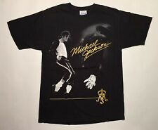 Vintage Michael Jackson Memory King Of Pop Men's M T-Shirt Tour RARE Signature