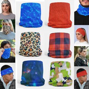 Bandana headband face covering mask snoods men women neck gaiter scarf balaclava