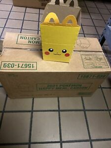 McDonalds Pokemon 2021 Promo Happy Meal Pikachu Box 25th Anniversary Sealed Box