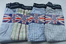 4 Pack ENGLISH LAUNDRY Check Boxer Shorts Underwear XL 31-34 100% Cotton NWT bb