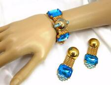 Vintage Amazing ZOE COSTE Design Art Deco Bracelet & Earrings Demi Parure