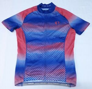 Pearl Izumi Mens Full Zip Short Sleeve Multicolored Cycling Bike Jersey Shirt M