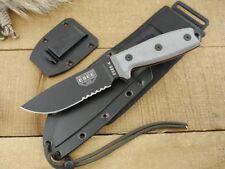 Couteau ESEE Model 4 Acier Carbone 1095 Etui Kydex + Molle Back USA ES4SMBB
