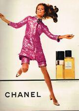 Q- Publicité Advertising 1969 Parfum Eau de Toilette N°5 Chanel