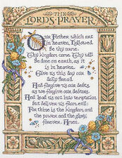 Cross Stitch Kit ~ Plaid-Bucilla Stone and Flowers The Lord's Prayer #43198