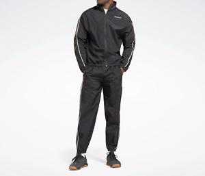 Reebok Mens Training Essentials Piping Tracksuit Black