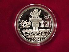 2004  SEIZED hallmarked LLD  $20 Norfed round - RARE
