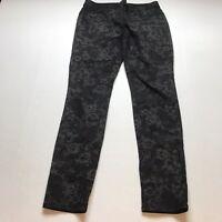 Ann Taylor Modern Fit Black Floral Lace Print Pants Size 8 A1406