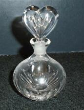 "Marquis Waterford Crystal ""Sweet Memories"" Perfume Bottle w/ Heart Stopper MWOB"