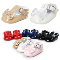 Toddler Kids Baby Bowknot Princess Crib Shoes Soft Sole Girls Sneaker Prewalker