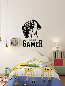 Forever Gamer Hand Silhouette Wall Stickers Gamers Vinyl Decal Gaming Room Decor