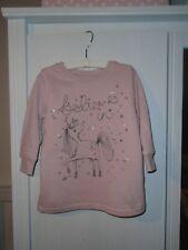 Pullover Sweatshirt NEXT England Einhorn Unicorn Gr. 86/92 Glitzer Rosa