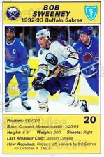 1992-93 Buffalo Sabres Blue Shield #24 Bob Sweeney