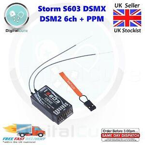 Storm S603 Dsmx DSM2 Spektrum Compatible Gamme Complète Receveur 2.4Ghz 6CH +