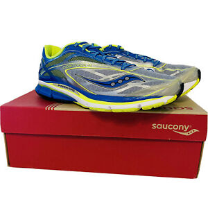 Saucony Cortana 4 Mens Running Shoes   Size 11.5, Color: Silver/Blue/Citron