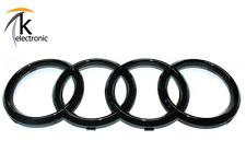 AUDI A5 S5 RS5 8T 8F Emblem schwarz glänzend / AUDI Ringe Kühlergrill Front vorn