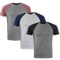 Mens T-Shirt Brave Soul 'Baptist' Crew Neck Short Raglan Sleeve Cotton Top S-XL