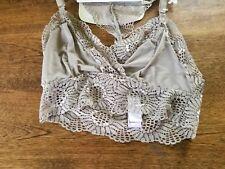 Bra Lace Bralette Racerback Tan Size Small 32 B/C NEW NWT Secret Treasures