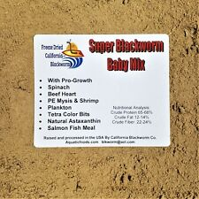 Super Blackworm Baby Mix, Ultra Fry & Baby Food With Pro Growth