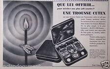 PUBLICITÉ 1938 OFFREZ UNE TROUSSE CUTEX - ADVERTISING