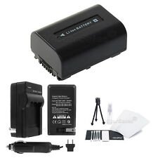 NP-FV30 Battery + Charger + BONUS for Sony HDR-CX110 CX130 CX350 CX550V CX760V