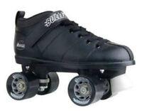 Men Black Rink Roller Skate Chicago Bullet