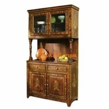 KraftNDecor Artistic Wooden Kitchen Cabinet/Display Rack in Brown Colour
