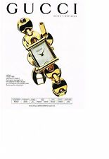 PUBLICITE ADVERTISING   1995   GUCCI  collection montres LADIE'S MODEL 1800