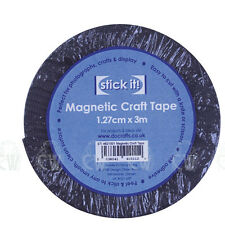 STICK IT MAGNETIC CRAFT TAPE 1.27cm x 3m Perfect for Art, Crafts & Modelling.