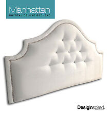 MANHATTAN CRYSTAL DELUXE - Upholstered Bedhead for Queen Ensemble - SNOW