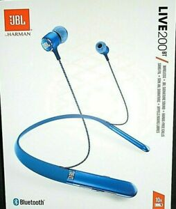 "JBL LIVE 200BT Wireless Headphones Blue - Hands-Free Calling ""NEW"""