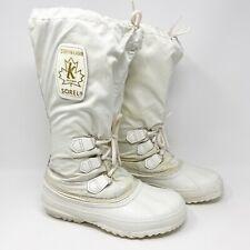 Vintage Sorel Kaufman Womens Snow Lion Insulated Snow Winter Boots White Sz 6