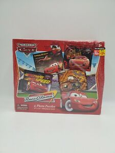 The World Of Cars Race O'Rama 4 Photo Puzzles Retired New In Rough Box Rare