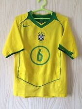 BRASIL BRAZIL TEAM 2004 2006 NIKE HOME FOOTBALL SOCCER SHIRT JERSEY R.CARLOS