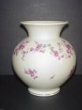 Hertel-Jacob Bavaria Germany Flower Vase Pink Roses Porzelan