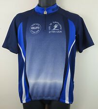Vtg Cycling Jersey Blue T.W.V. De Turfrijders Etten-Leur Mens Triot M Medium