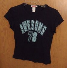 Steve & Barrys Juniors T-Shirt Small Sparkly Awesome 78 Cotton Baby Tee Cute A4
