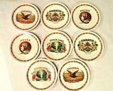 Pottery Barn Fireside Club 8 Salad or Side Plates Various Motiffs Colorful B 00004000 And