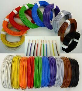 LiY 0,14mm² Kabel Litze Kupferlitze Schaltlitze 10 Farben Länge 1m-100m wählbar