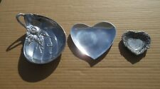 Dish Leaf Heart Shaped Fitz and Floyd World Market Carson Aluminum