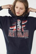 NEW MITCHELL & NESS WOMEN'S NEW ENGLAND PATRIOTS HOODIE HOODED SWEATSHIRT SMALL