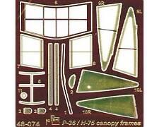 Part S48-074 1/48 P-36/H-75 - canopy frames (Academy/HobbyCraft/Signum)