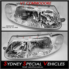 HEADLIGHTS FOR VT COMMODORE WH STATESMAN PAIR OF BRAND NEW SS S PACK EXECUTIVE
