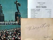 DEBORAH KERR ,FILM STAR LG GENUINE AUTOGRAPH WITH QUO VADIS MGM PUBLICATION 1950