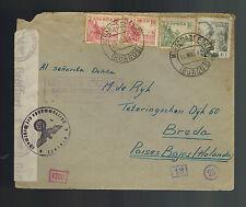 1942 Spain Miranda de Ebro Concentration camp cover to Netherlands WAH Melissen