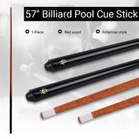 57'' American Style Pool Cue Oak wood Pool Snooker 1-Piece Indoor Sporting145CM